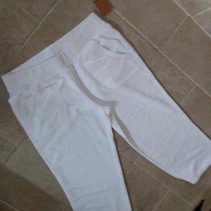 Comfy White Capri Sweats